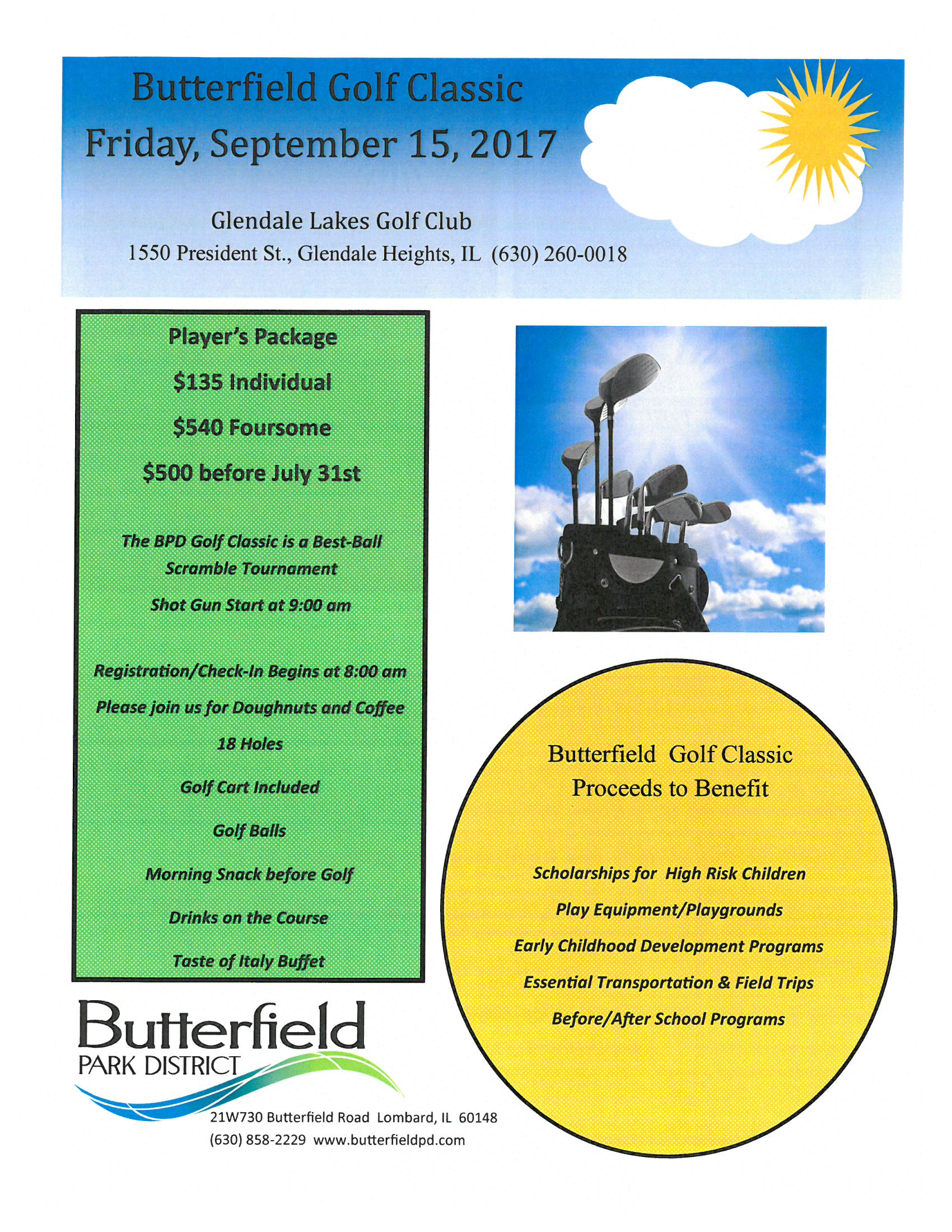 Butterfield Golf Classic Invitation 2017 Page 1