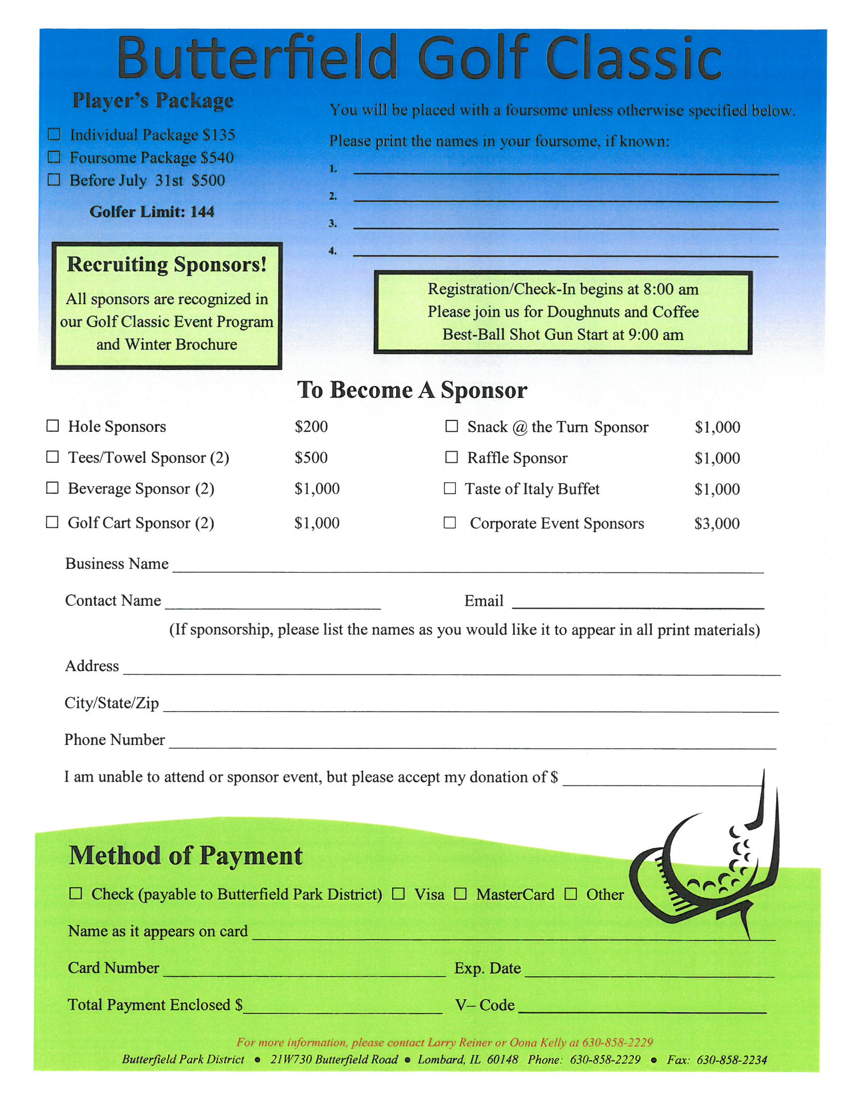 Butterfield Golf Classic Invitation 2017 Page 3